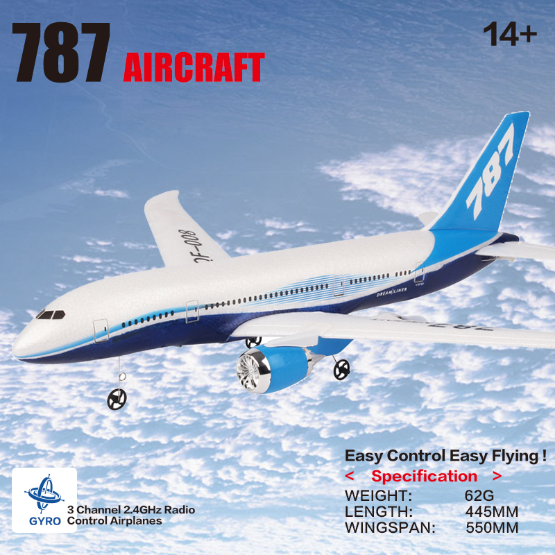 DIY RC Drone Boeing 787 Fixed Wing EPP Airplane Foam Remote Control <font><b>Plane</b></font> Model Family Fun Puzzle Toy For Children Birthday Gift image