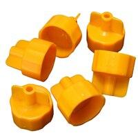 100x Tile Positioning Tool Base Cap Flooring Horizontal System Construction Yellow