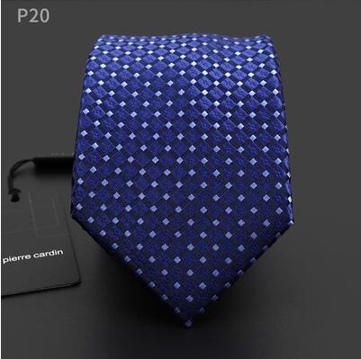 Men Neck Tie Silk Extended 160 Cm Long 8 Cm Width Blue