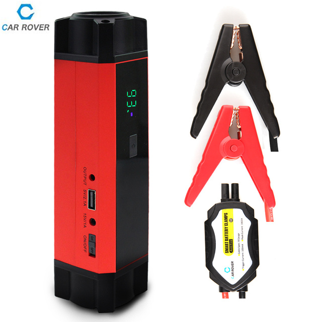 Car Rover 1000A Peak Current Car Jump Starter Power Bank 12v Emergency Car Battery Charging Units Booster Multi-function