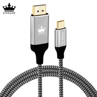 Kingone USB Type C 3 1 Displayport Cable For MacBook Samsung S8 Huawei Mate 10 Display
