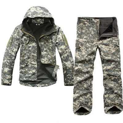 Tad 4,0 акулья кожа, мягкий корпус, для улицы, походов, тактическая Экипировка, военная куртка + униформа, камуфляжный охотник, армейские костюмы