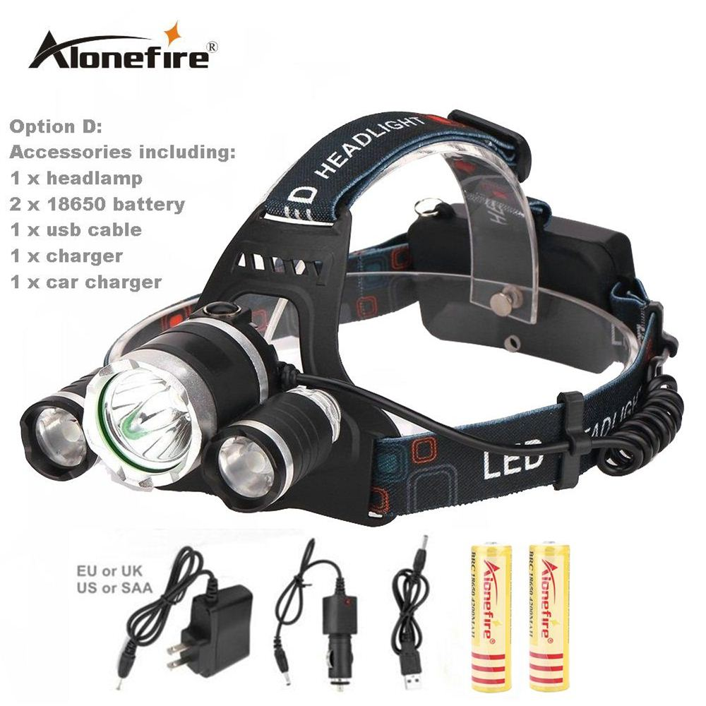 AloneFire HP83 CREE led headlamp XM L T6 XPE headlight 8000LM led head lamp camp hike