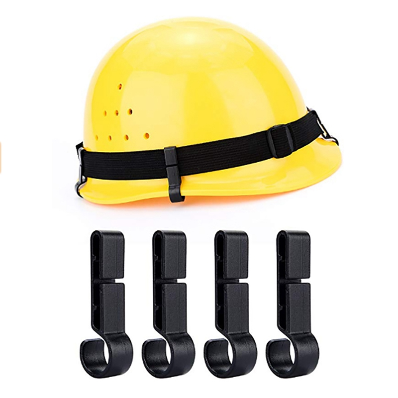 10pcs/set New Helmet Clips For Headlamp Anti-slip Plastic Easily Mounted Safety Cap Hard Hat Hooks HeadLight Fixed Accessories