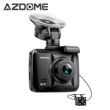Azdome GS63H Двойной объектив FHD 1080 P спереди + VGA сзади Видеорегистраторы для автомобилей Регистраторы регистраторы Новатэк 96660 с сзади Камера построен В gps Wi-Fi