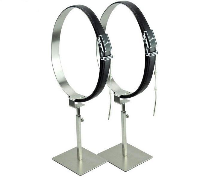 Support de ceinture en métal Double support de ceinture présentoir de ceinture support de ceinture montrant support d'étagère support de ceinture debout