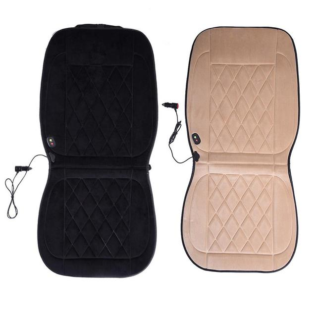 Car Heated Cushion Seat Cover For volkswagen Velvet Smart Temperature Control 12V Car Seat Keep Warming Black And Beige Color