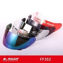 Ls2 Ff352 Visor de Casco Original Cara Completa de Motocicleta Casco Lente de Repuesto para Ls2 Ff352 Ff384 Ff351 Casco