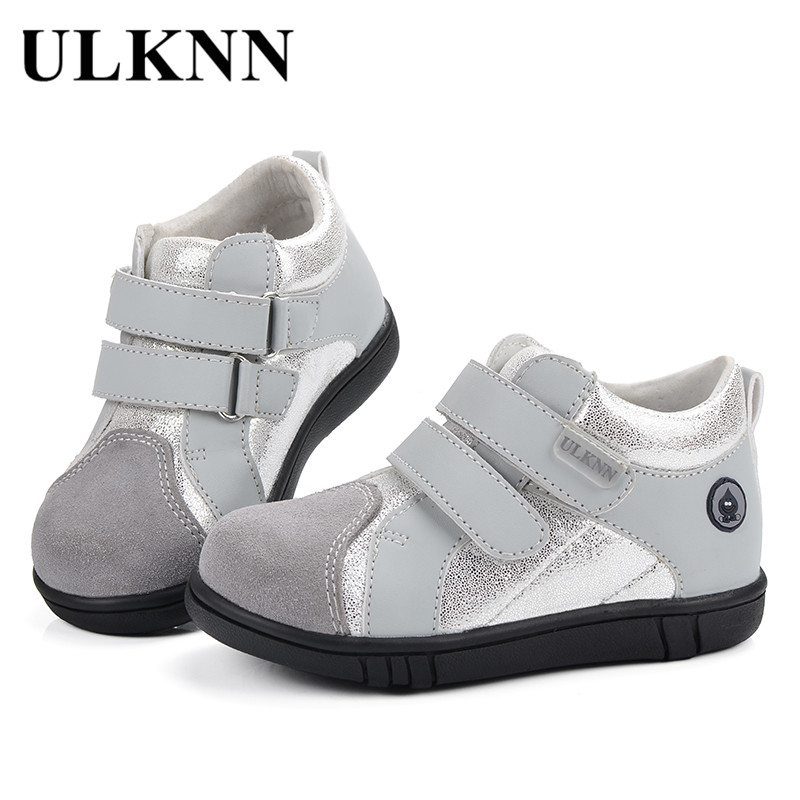 ULKNN Kids Shoes For Boys Flat Casual School Shoes For Children Glitter  Bling Genuine Leather Baby Infant chaussure enfant a8cfbea47e53