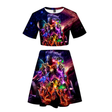Avengers Endgame Quantum Realm Women Tops Tee Advanced Tech Skirt Cosplay Costumes 2019 new superhero Iron Women T-shirt suit