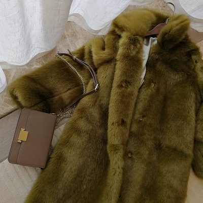 2019 New Style High-end Fashion Women Faux Fur Coat S71 Faux Fur Back To Search Resultswomen's Clothing