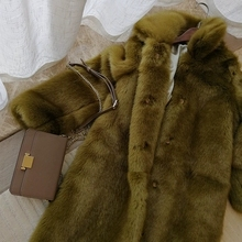 2019 New Style High-end Fashion Women Faux Fur Coat S71
