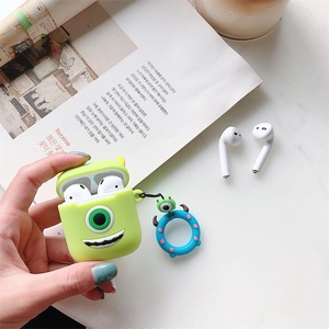Image 3 - Cute Cartoon Soft Silicone Case For Apple Airpods Shockproof Cover For AirPods Earphone Cases Air Pods Case Earphone Accessories