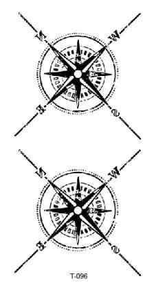 Wodoodporny tymczasowy tatuaż fałszywy tatuaż naklejki kompas tatuaże naklejki tatuaż ręcznie stóp tatuaż sztuki dla mężczyzn kobiety dziewczyny