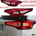 1 комплект бампер Taillamp для Toyota RAV4 задний фонарь 2013 ~ 2015y автомобильные аксессуары RAV 4 LED Противотуманный задний фонарь RAV4 задний фонарь