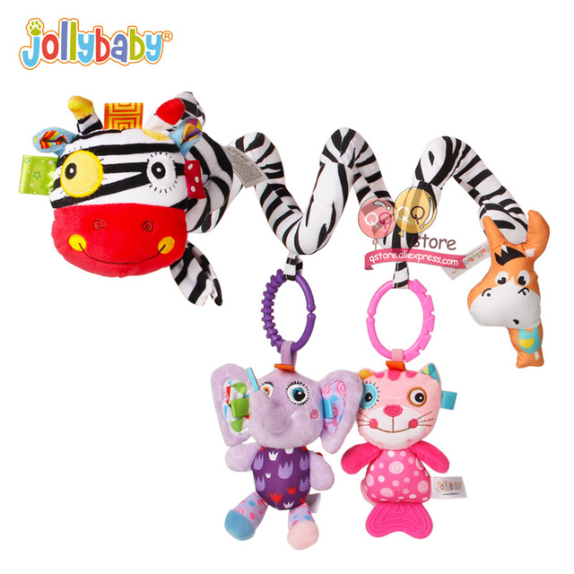 NEW Jollybaby Soft Plush Spiral Baby Games Stroller Car Seat Ornament Crib Hanging Decor Toys for Children Play Mat AccessoriesBaby & Toddler Toys