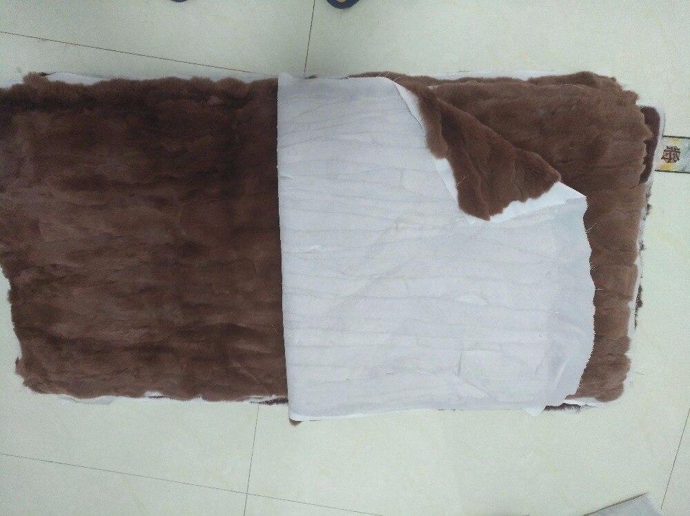 New natural rex rabbit belly fur plate patchwork fur blanket parka lining garment raw material carpet rugs