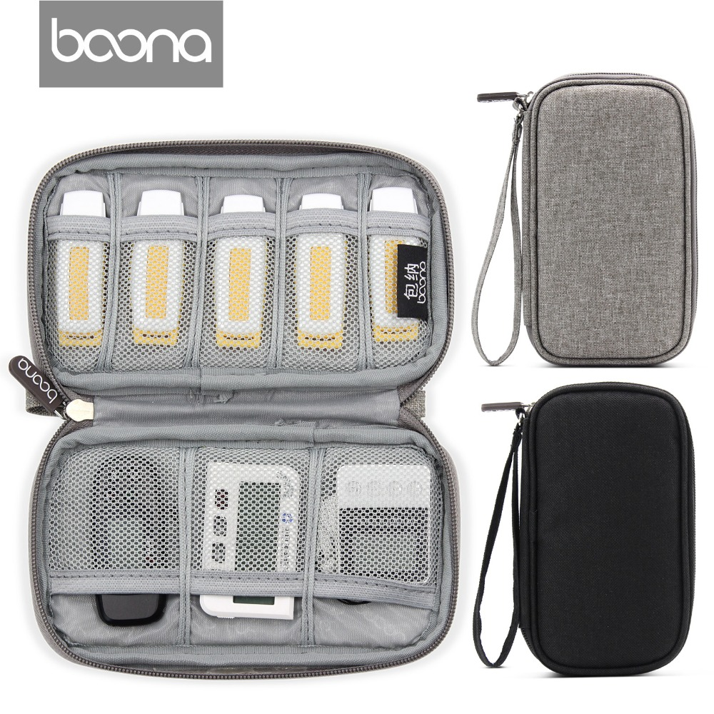 Boona New Oxford Canvas Single Layer USB Flash Drive Bag Bank USBKey Storage Bag Car Key Organizer Gadgets Bag