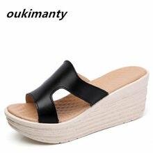 f6553c202 Sexy moda cunha de salto alto mulheres sandálias de PVC calçados femininos  primavera verão sapatos gladiador