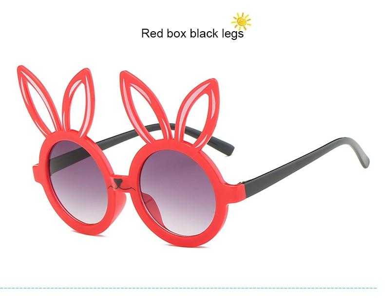 MINIMUM Cute rabbit shape Flexible Kids Sunglasses UV400 Eyewear Shades Infant Polarized Child Baby children Safety Sunglasses 9