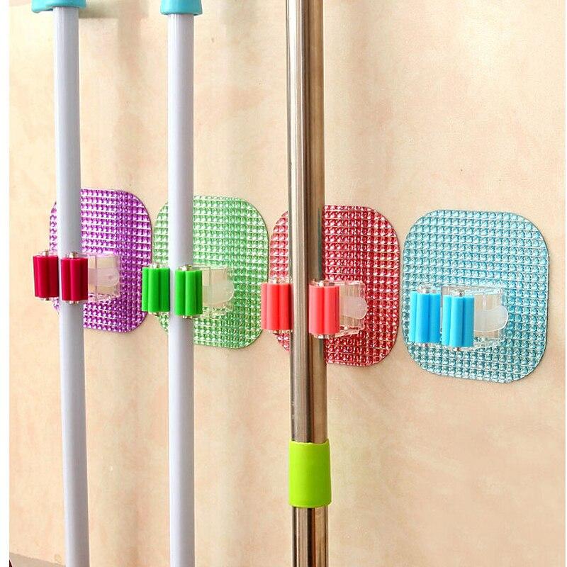 nuovo cristallo creativo accessori per il bagno ventosa super magia adesivi clip di mop pratico