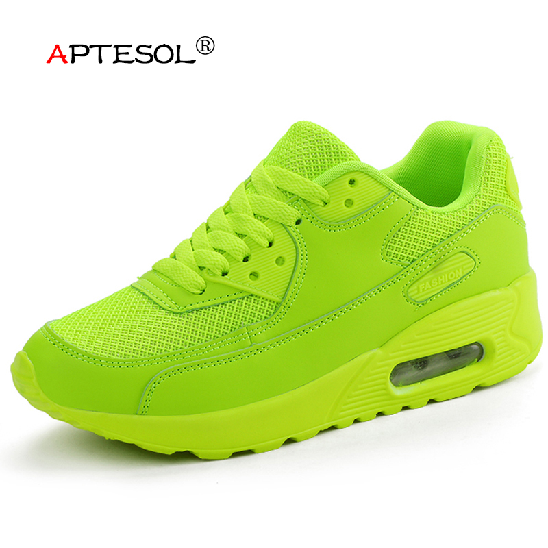 APTESOL Air Mesh Women Men Lightweight Outdoor Sport Running Shoes Couples Breathable Soft Athletics Jogging Sport Sneaker Shoes