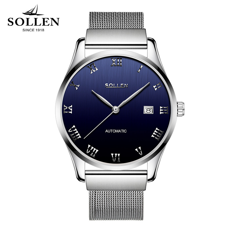 Reloj Hombre Classic Men Mechanical Automatic Watches Man Luxury Brand Waterproof Stainless Steel Calendar Watch Zegarki Meskie mce luxury brand skeleton square mechanical watches leather gold automatic watch men waterproof casual wristwatch reloj hombre