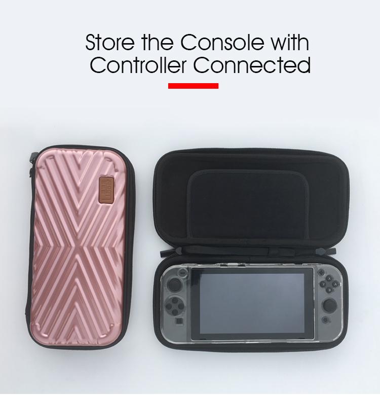 8 Liboer Nintend Switch Hard Case Thin Travel Pouch Shell for Nintendo Switch Console Carry Rose Gold Nintend Switch Bag for Girl
