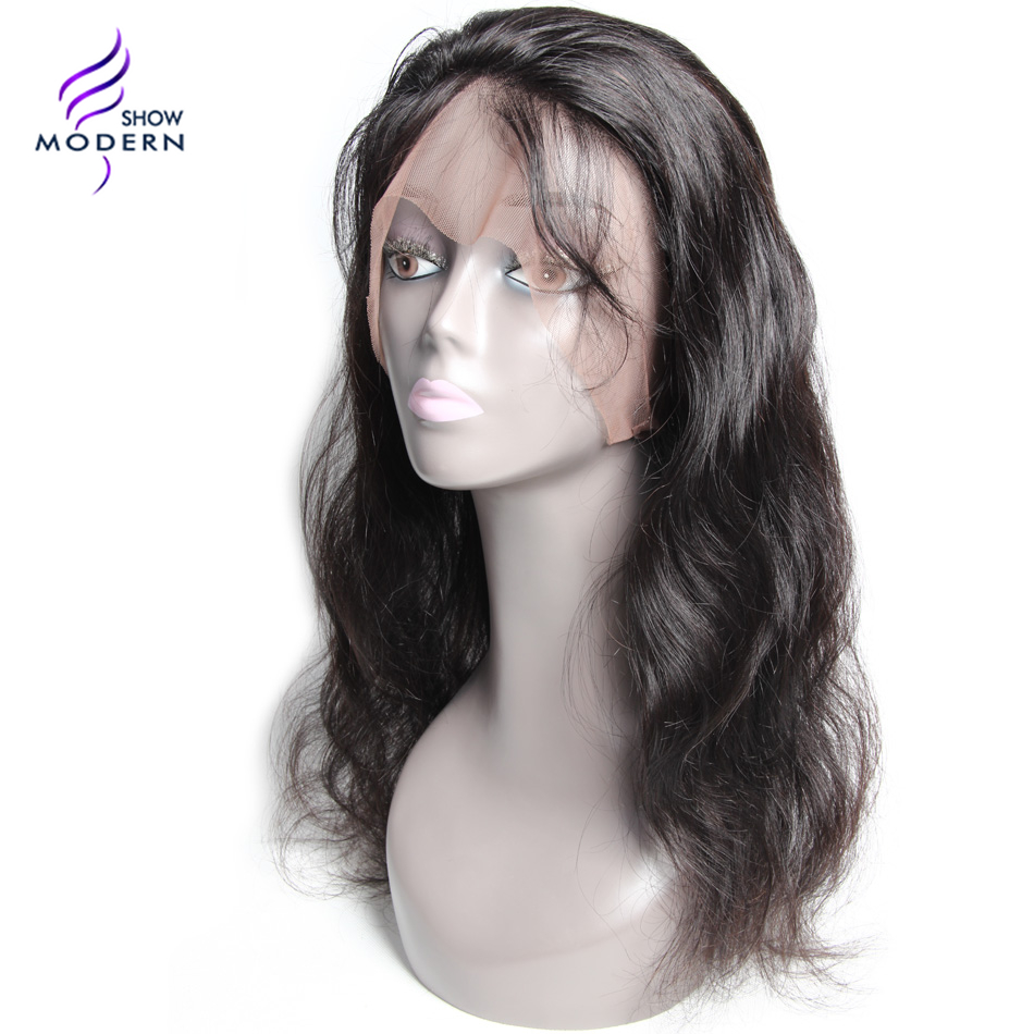 Modern Show Body Wave 360 Lace Frontal Closure Remy Hair Pre Plucked Natural Hairline 100% Human Hair Natural Colo Free Shipping