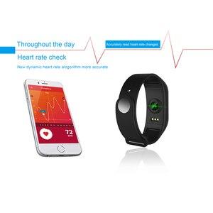 Image 4 - NAIKU F1Plus Bracelet intelligent couleur écran pression artérielle Fitness Tracker moniteur de fréquence cardiaque bande intelligente Sport pour Android IOS