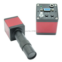 Free Shipping HD 1.3MP 3 in1 Digital Industrial Microscope Camera VGA outputs Standard C-mount+8X-130X C-MOUNT Zoom Lens