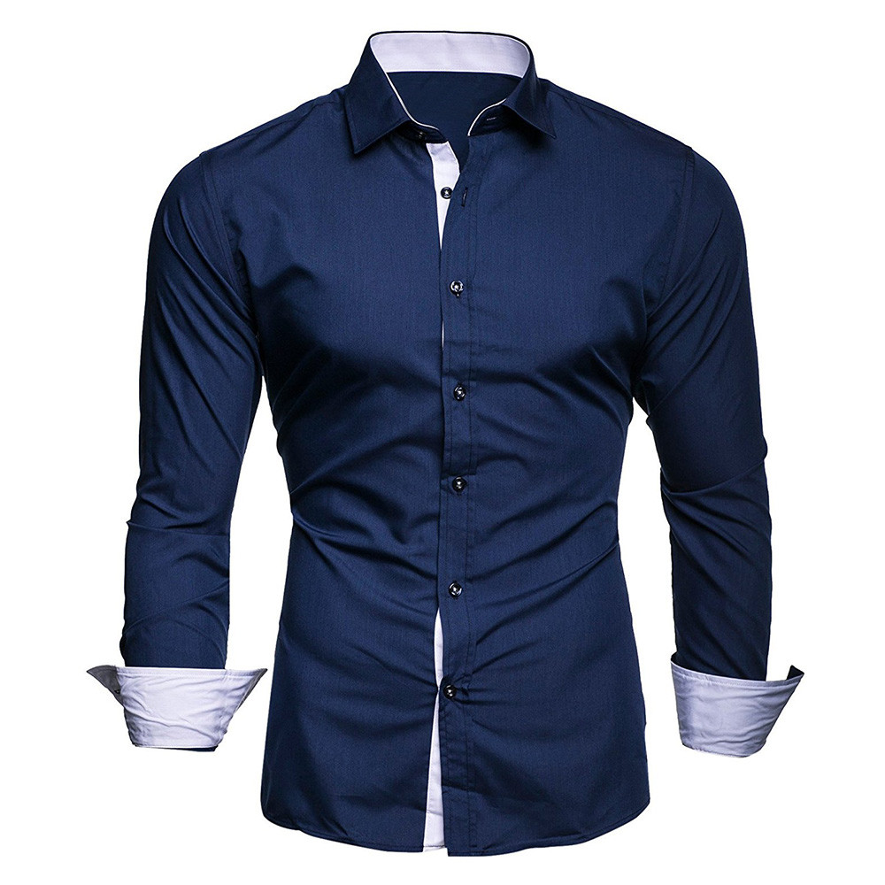HTB1BPNoXyDxK1RjSsphq6zHrpXai - #4 DROPSHIP 2018 NEW HOT Fashion Men's Autumn Casual Formal Solid Slim Fit Long Sleeve Dress Shirt Top Blouse Freeship