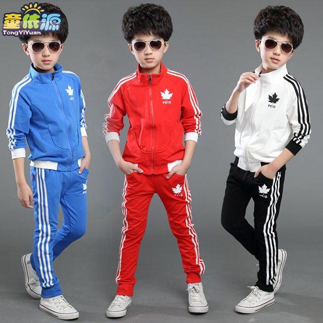 Детская одежда 2 шт. мальчики весна и осень устанавливает длинными рукавами толстовка школы износ ребенок спортивная-16
