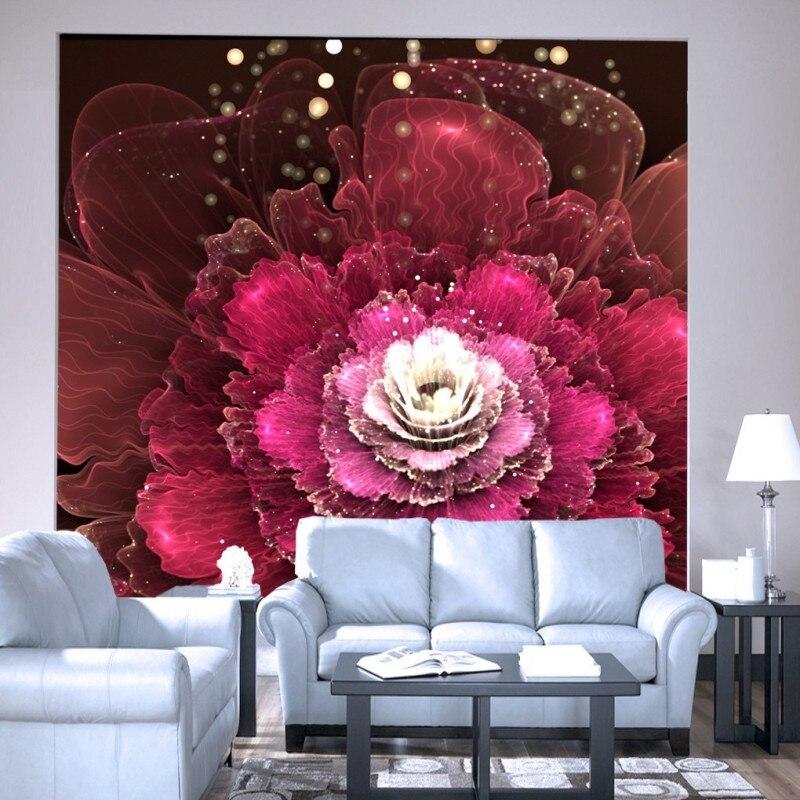 online kopen wholesale rode bloemen behang uit china rode bloemen, Deco ideeën