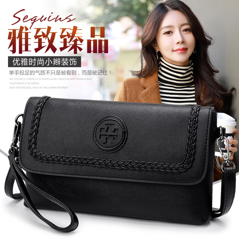 soft leather women clutches new fashion hand bag evening party 2019 female handbag women messenger bag crossbody shoulder(China)