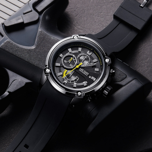 Image 5 - MEGIR Fashion Men Watch Top Brand Luxury Chronograph Waterproof Sport Mens Watches Silicone Automatic Date Military Wristwatch