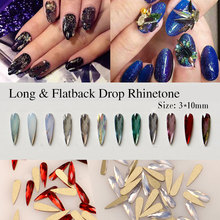 2019 Newest 12Pcs/lot 3D Nail Art Decoratio Flat Back Dorp Rhinestone Crystal Alloy Rhinestones DIY Manicure Nails Art Design