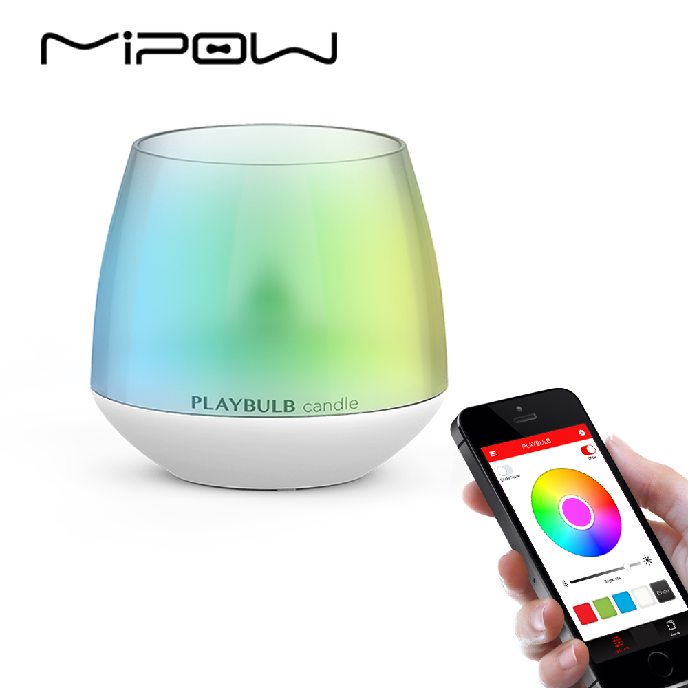 PLAYBULB Electric Smart Candle LED Flameless RGB scented Romantic Flash light Colored Glitter battery operated Candles Holder