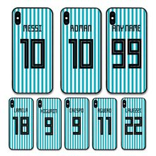 European Football Argentina National Team Jersey style Messi Roman Custom Names and Numbers case for iPhone XS Phones cases