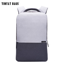 TINYAT Men Laptop Backpack For 15/16 inch USB Anti-theft Computer Backpacks Male Gray Bags Daypack Women Travel Bag Mochila T810