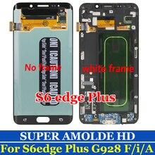 """Super AMOLED 5.7 """"untuk Samsung Galaxy S6 Edge Plus LCD G928 G928F Layar Sentuh Display Perakitan Pengganti"""