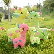 Jouet de poupée girafe cerf en peluche, oreiller, jouets pour enfants