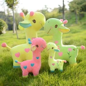 Image 1 - Lalka żyrafa pluszowa zabawka jeleń poduszka poduszka dziecięca