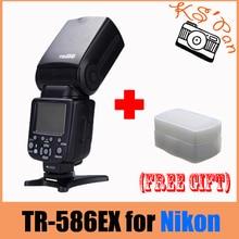 T RIOPO TR-586EXไร้สายแฟลชTTLสำหรับกล้องNikon D750 D800 D7100 D7000เป็นYONGNUO YN-568EX Wtฟรีd iffuser