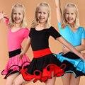 Samba dança latina dress for girls dress dança de salão dress dancewear menina crianças ballet vestido de baile latino traje do miúdo meninas