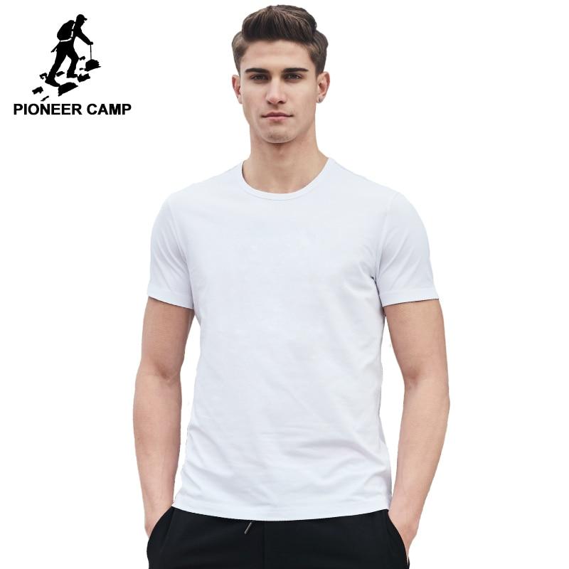 Pioneer Camp 2020 nowa solidna T koszula mężczyzna odzież marki mężczyzna T-shirt najwyższej jakości 100% miękka bawełniana tshirt dla mężczyzn plus rozmiar 4XL
