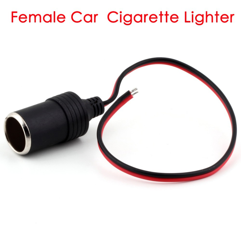 Car Cigarette Lighter Charger cable Female Socket Plug Connector Adapter hot selling