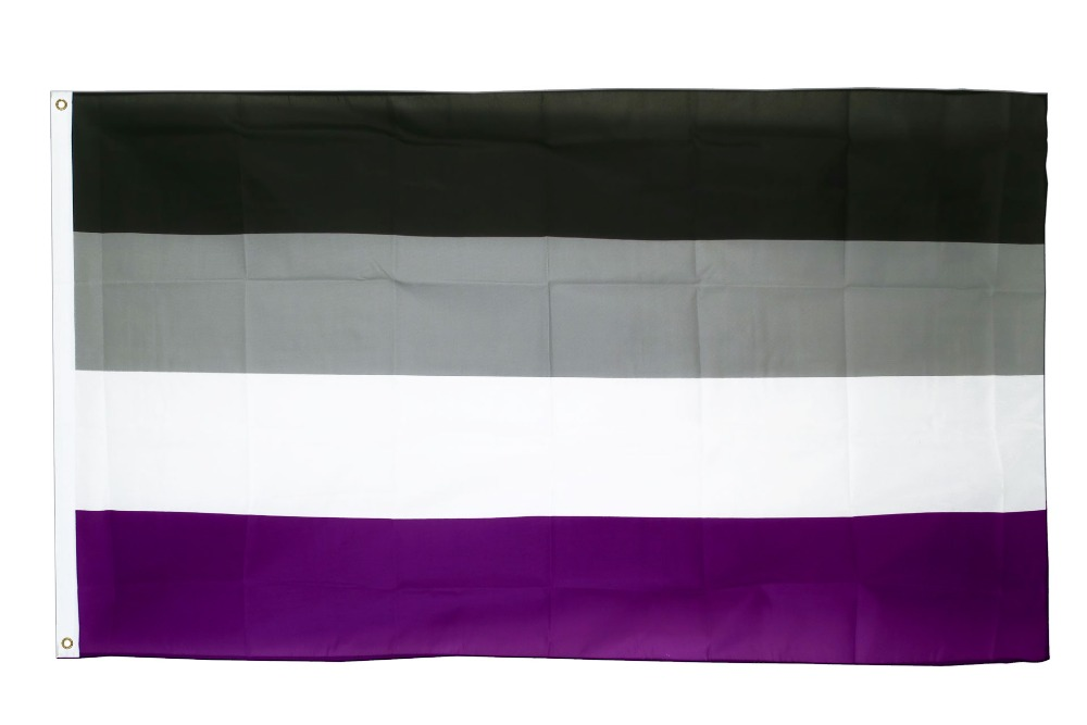Xiangying hanging 90*150cm LGBTQIA Ace Community Asexuality <font><b>asexual</b></font> <font><b>pride</b></font> Flag For Decoration image
