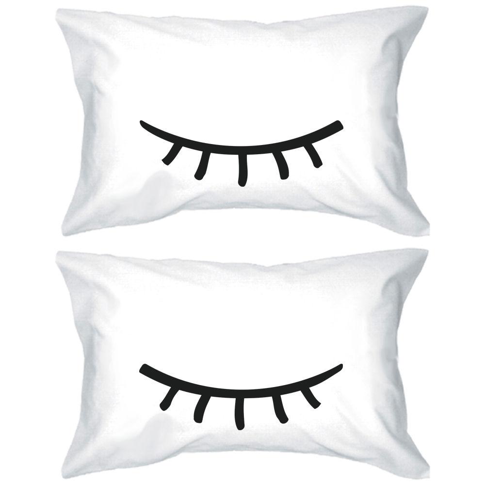 Novelty Cute Eyelash Pillow Cover Set Funny Sleeping Eyelash Pillowcase Set Couple Pillow Covers Cases Pillowcases Gifts 20 X30 Pillow Cover Case Pillowcase Setcouple Pillow Aliexpress