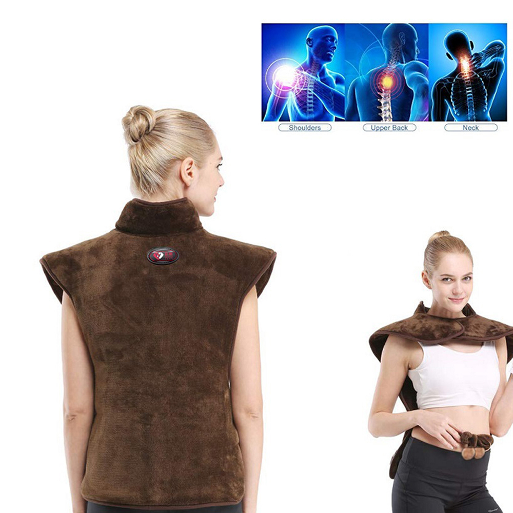 Electric Hot Compresss Heat Protector Back Shoulder Heat Pack Warm Physiotherapy Moxa Moxibustion Shawl Neck Cervical Vertebra - 6